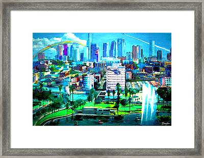 The City Of Angels Framed Print by Rom Galicia