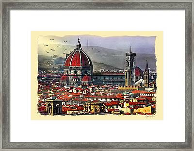 The City Of Florence Framed Print