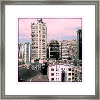 The City Of La Paz Framed Print