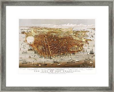 The City Of San Francisco Framed Print by Pg Reproductions