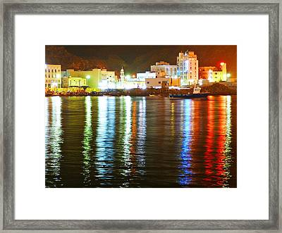 The City Of The Color Framed Print by Jenny Senra Pampin