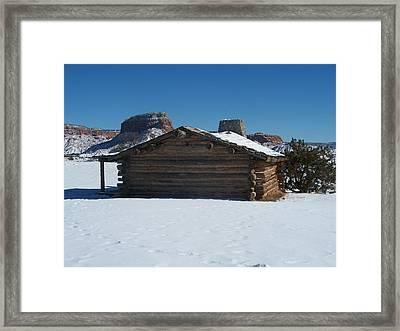 The City Slickers Cabin Framed Print by FeVa  Fotos