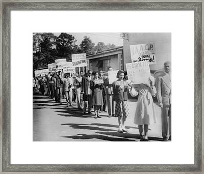 The Civil Rights Movement Began Framed Print