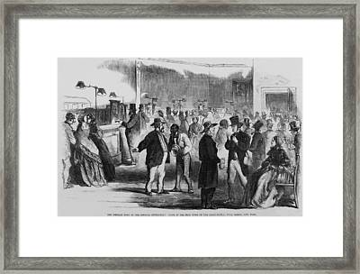 The Civil War. New Yorkers In The Assay Framed Print by Everett