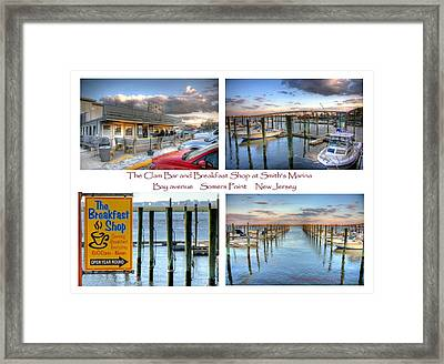 The Clam Bar And Breakfast Shop Framed Print