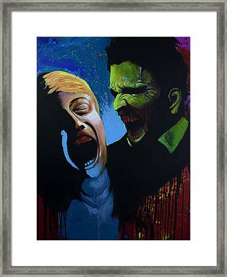 The Clash Framed Print by Jake Perez