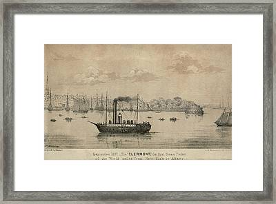 The Clermont Robert Fultons First Framed Print by Everett