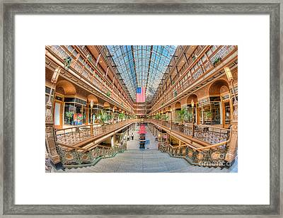The Cleveland Arcade IIi Framed Print by Clarence Holmes