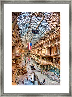 The Cleveland Arcade Iv Framed Print by Clarence Holmes