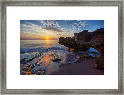 The Cliffs Of Florida Framed Print by Claudia Domenig
