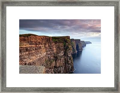 The Cliffs Of Moher Framed Print by Brendan O Neill