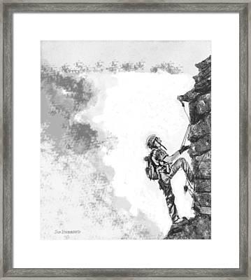 The Climber Framed Print by Jim Hubbard