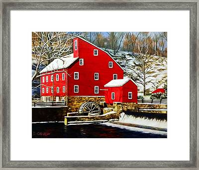 The Clinton Mill Framed Print