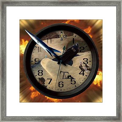 The Clock Is Ticking Framed Print by E  Kraizberg