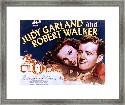 The Clock, Judy Garland, Robert Walker Framed Print