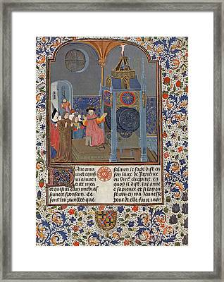The Clock Of Wisdom, Illuninated Framed Print by Science Source