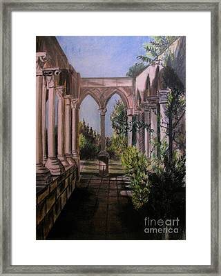 The Cloisters Colonade Framed Print by Judy Via-Wolff