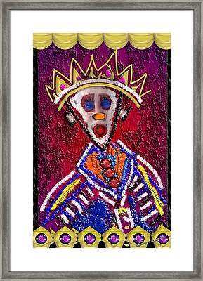 The Clown King Framed Print