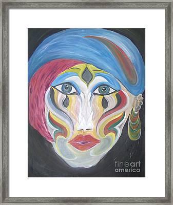 The Clown Within Me Framed Print by Rachel Carmichael