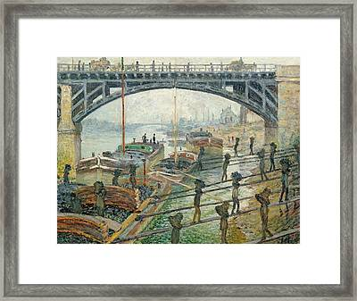 The Coal Workers Framed Print by Claude Monet
