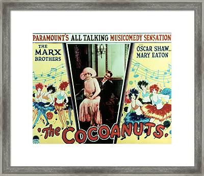 The Cocoanuts, Margaret Dumont, Groucho Framed Print by Everett