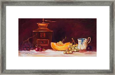 The Coffee Grinder Still Life Framed Print
