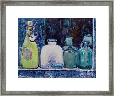 Framed Print featuring the painting The Collection by Louise Peardon