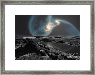 The Collision Of The Milky Way Framed Print