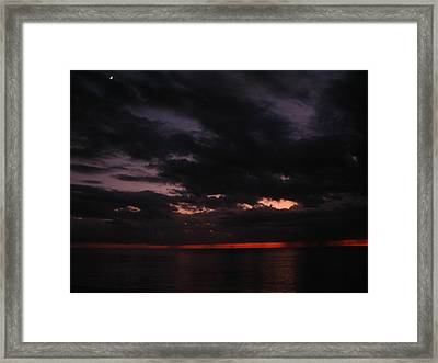 Framed Print featuring the photograph The Color Of Fear by Bill Lucas
