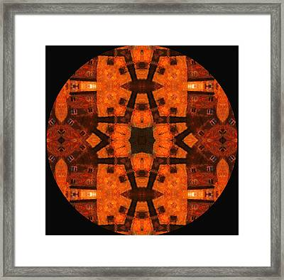 The Color Orange Mandala Abstract Framed Print