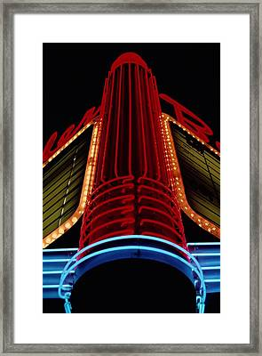 The Colorful Neon Centerpiece Framed Print by Stephen St. John