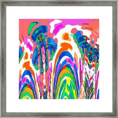 The Colors Fountain Framed Print by Alec Drake