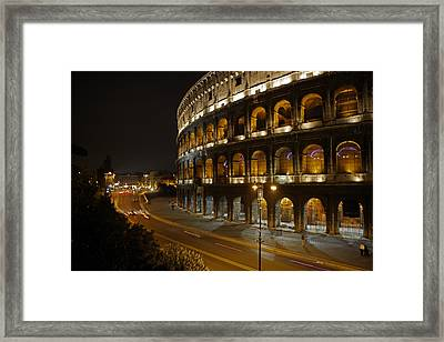 The Colosseum At Night Framed Print by Stephen Alvarez