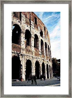 The Colosseum Framed Print by Donna Proctor