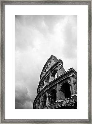 The Colosseum In Rome Framed Print by Steven Gray