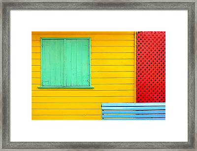 The Colours Of Caminito Framed Print by by Felicitas Molina