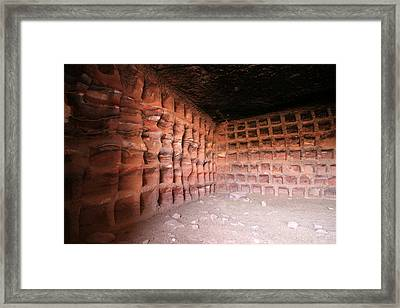 The Columbarium, Al Habis, Petra Framed Print by Joe & Clair Carnegie / Libyan Soup