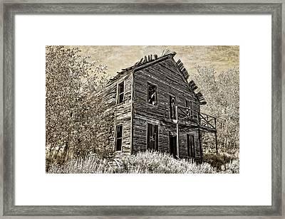 The Comet Ghost Mine Hotel - Montana Framed Print by Daniel Hagerman