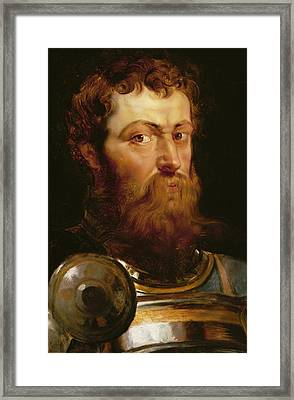 The Commander's Head  Framed Print by Peter Paul Rubens