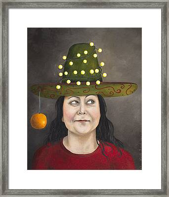 The Competitive Sombrero Couple 1 Framed Print by Leah Saulnier The Painting Maniac