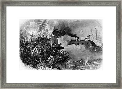 The Confederate Ironclad Merrimack Framed Print by Photo Researchers