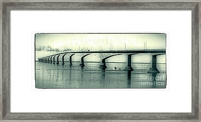 The Confederation Bridge Pei Framed Print by Edward Fielding