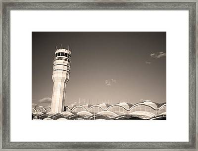 The Control Tower And Framed Print by Stephen Alvarez