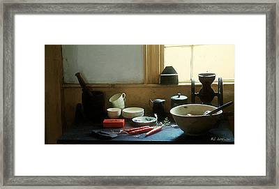 The Cook's Table Framed Print by RC deWinter