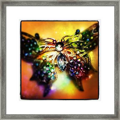 The Coolest #broach Ever! Framed Print