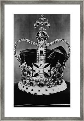 The Coronation. Jeweled Coronation Framed Print by Everett