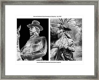 The Corps Commanders Framed Print by David Bearden