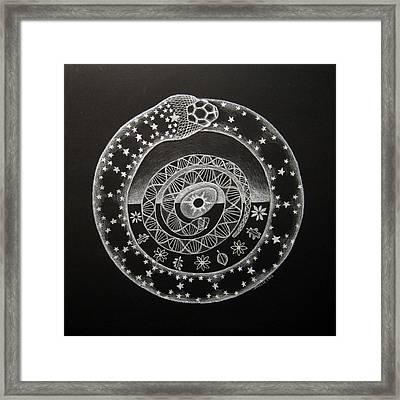 The Cosmic Serpent Framed Print by Janelle Schneider
