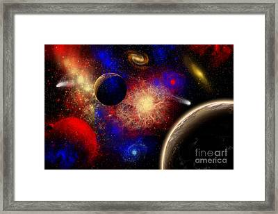The Cosmos Is A Place Of Outstanding Framed Print by Mark Stevenson