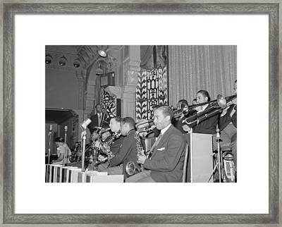 The Count Basie Orchestra At The Savoy Framed Print by Everett